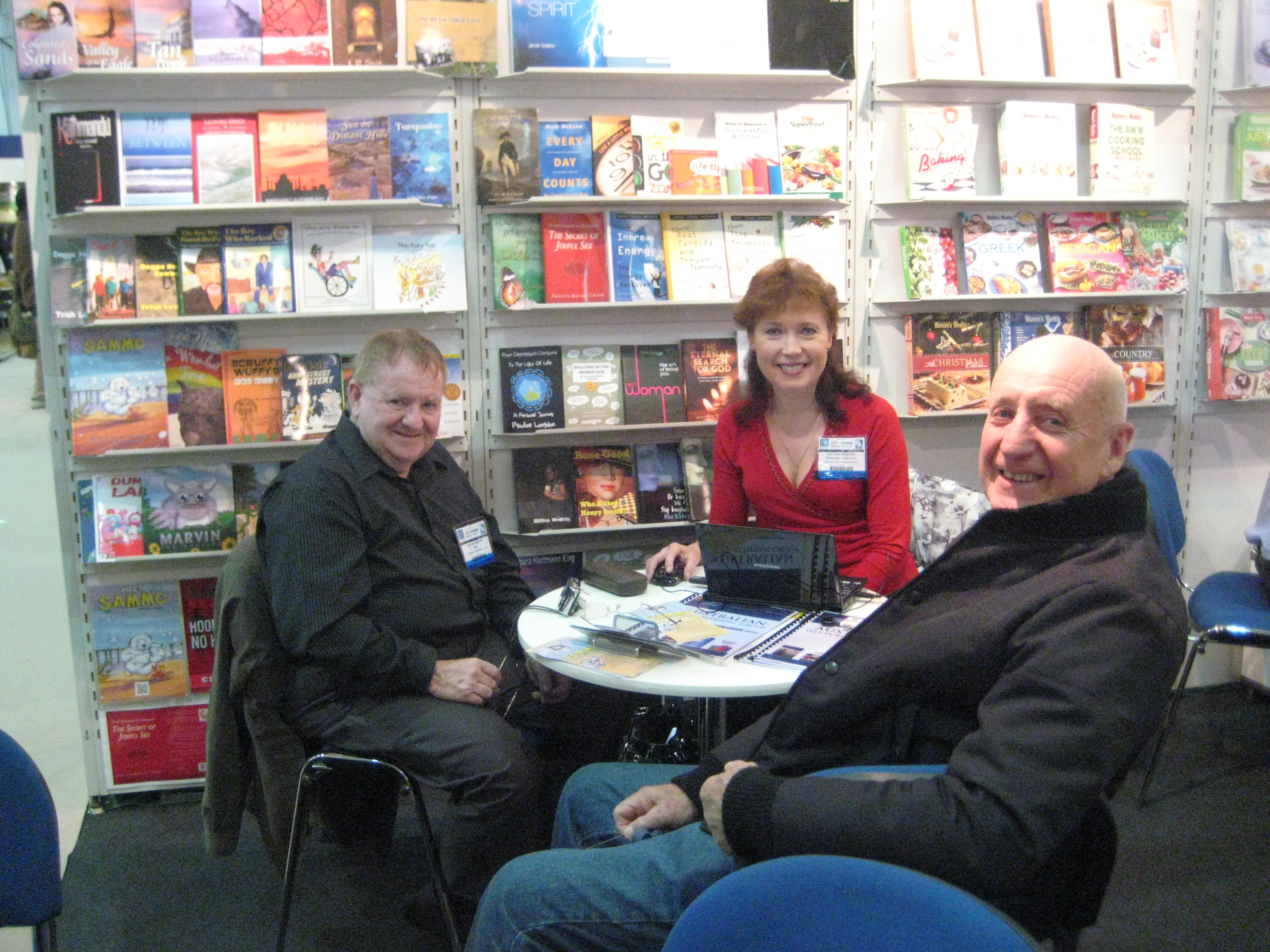 Gerry with ASPG Publishers, William & Irina